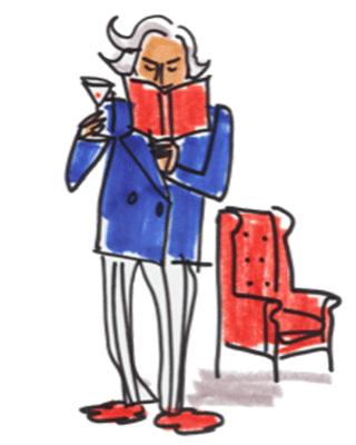 Graydon reading